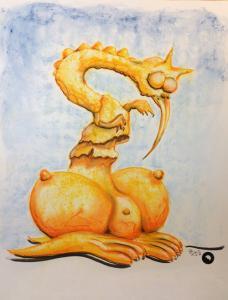 Duttelspecht-Herbert_Zeichnung-Pastellkreide-42x58-cm©jürgen-bley