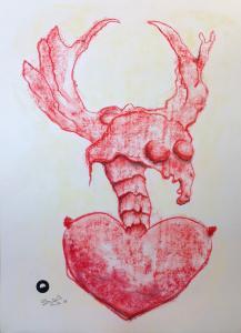 HirschHerzDuttler_Zeichnung-Pastellkreide-42x58cm©Jürgen-Bley