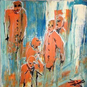 People_Acryl auf Leinwand 40x40 cm