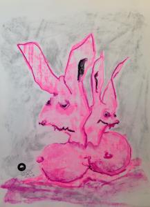 DuttelEiHoppelhasen_Zeichnung-Pastellkreide-auf-Papier-42x58cm©Jürgen-Bley
