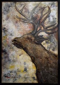 HIRSCH-Mischtechnik-canvas-80x120cm©juergen-bley