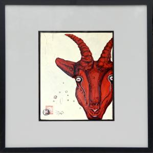 gams-25x30cm-acrylic-painting©bli-art