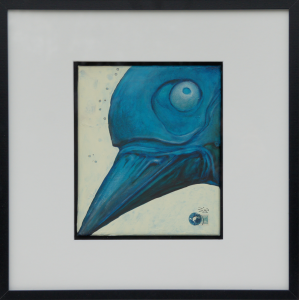 raven-25x30cm-acrylic-painting©bli-art