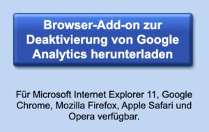 deaktivierung google analytics