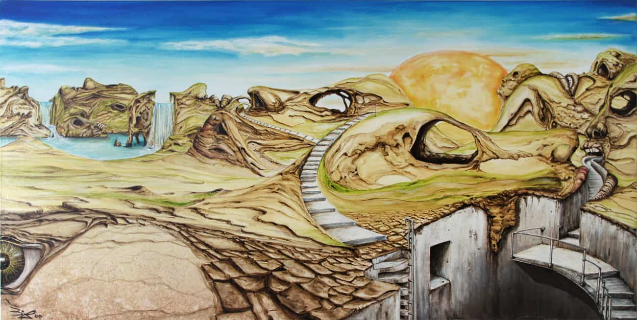 Kopflandschaft Acrylic painting Bli-Art