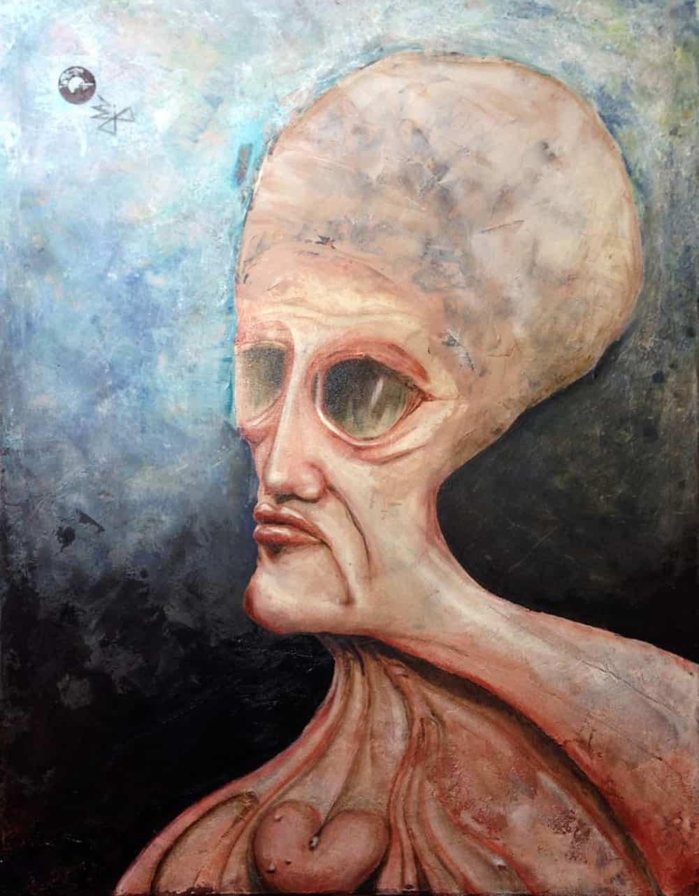Iceblue Acrylic painting Bli-Art